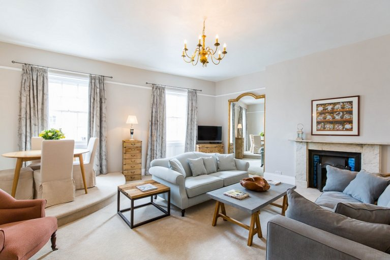 Luxury Montpellier living room in Cheltenham